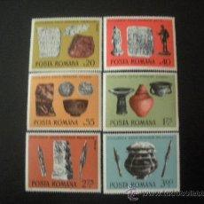 Sellos: RUMANIA 1976 IVERT 2970/5 *** CIVILIZACION DACO-RUMANA - ARQUEOLOGÍA. Lote 23689018