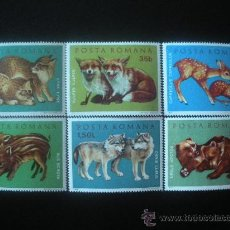 Sellos: RUMANIA 1972 IVERT 2674/9 *** ANIMALES SALVAJES - FAUNA - MAMIFEROS. Lote 23725516