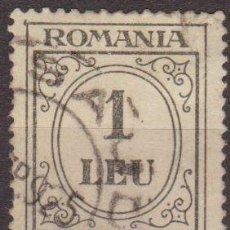 Sellos: RUMANIA 1920 SCOTT J67 SELLO PORTES DEBIDOS TAXA DE PLATA NUMEROS 1 LEU USADO . Lote 24836492