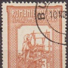 Sellos: RUMANIA 1906 SCOTT B5 SELLO REINA TEJIENDO USADO . Lote 24839772