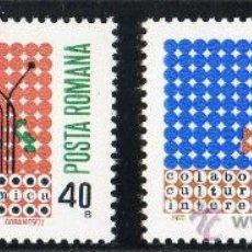Sellos: RUMANIA AÑO 1970 YV 2533/34*** COOPERACIÓN CULTURAL Y ECONÓMICA EN EUROPA - MAPAS. Lote 27799396