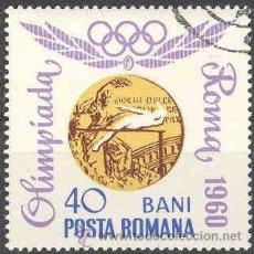 Sellos: RUMANIA 1964 SCOTT 1694 SELLO MEDALLAS OLIMPICAS MELBOURNE SALTO ALTURA 40B º MI.2071 YV.2348 ROMINA. Lote 28558368