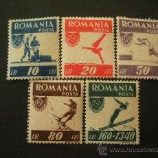 Sellos: RUMANIA 1946 IVERT 916/20 *** PRO OFICINA DEPORTES POPULARES. Lote 28678866