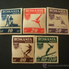 Sellos: RUMANIA 1946 IVERT 916/20 (SIN DENTAR) *** PRO OFICINA DEPORTES POPULARES. Lote 28678879