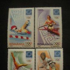 Sellos: RUMANIA 2004 IVERT 4905/8 *** JUEGOS OLIMPICOS DE ATENAS - DEPORTES. Lote 30074704