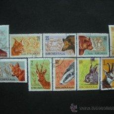 Sellos: RUMANIA 1961 IVERT 1781/90 FAUNA - ANIMALES DE CAZA . Lote 30409265