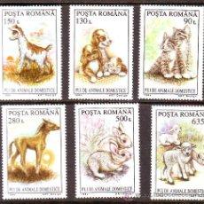 Selos: RUMANIA / ROMANIA / ROUMANIE.***.AÑO 1994.YVERT NR.4217/4222.FAUNA.ANIMALES.PERROS.GATOS..... Lote 30541461
