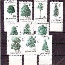 Selos: RUMANIA / ROMANIA / ROUMANIE.***.AÑO 1994.YVERT NR.4160/4169.FLORA.ARBOLES.ALTO VALOR.. Lote 30541694