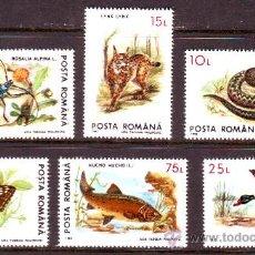 Sellos: RUMANIA / ROMANIA / ROUMANIE.***.AÑO 1993.YVERT NR.4088/4093.FAUNA EN PELIGRO.. Lote 183276205