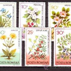 Sellos: RUMANIA / ROMANIA / ROUMANIE.***.AÑO 1993.YVERT NR.4057/4062.FLORA.FLORES.PLANTAS MEDICINALES.. Lote 183275877