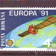 Sellos: RUMANIA / ROMANIA / ROUMANIE.***.AÑO 1991.YVERT NR.3932.EUROPA CEPT.ESPACIO.. Lote 105439999