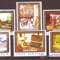 Sellos: RUMANIA / ROMANIA / ROUMANIE.***AÑO 1987.YVERT NR.3730/3735.ARTE.PINTURA.CUADROS.. Lote 183275570