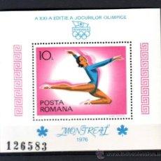 Sellos: RUMANIA / ROMANIA / ROUMANIE.***.AÑO 1976.YVERT NR. HB.126.JUEGOS OLIMPICOS MONTREAL.DEPORTES.. Lote 30987530