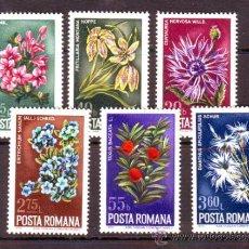 Selos: RUMANIA / ROMANIA / ROUMANIE.***.AÑO 1974.YVERT NR.2863/2868.FLORA.FLORES.. Lote 31053493