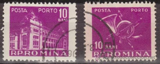 RUMANIA 1957 SCOTT J117 SELLOS º GENERAL POST OFFICE & POST HORN PORTO 10BANI ROUMANIE ROMINA ROMANI (Sellos - Extranjero - Europa - Rumanía)