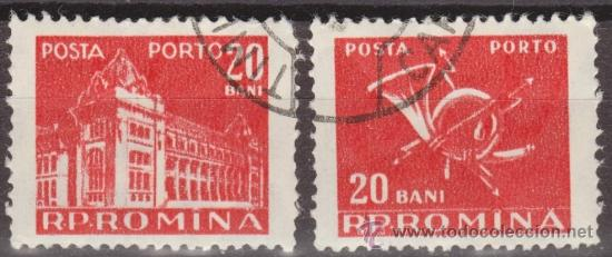 RUMANIA 1957 SCOTT J118 SELLOS º GENERAL POST OFFICE & POST HORN PORTO 20ANI ROUMANIE ROMINA ROMANIA (Sellos - Extranjero - Europa - Rumanía)
