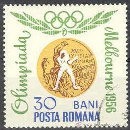 RUMANIA 1964 SCOTT 1692 SELLO º MEDALLAS OLIMPICAS MELBOURNE BOXEO 20B MI.2069 YV.2346 TIMBRE ROUMAN (Sellos - Extranjero - Europa - Rumanía)