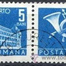 Sellos: RUMANIA 1967 SCOTT J122 SELLOS º GENERAL POST OFFICE & POST HORN PORTO 5BANI ROUMANIE ROMINA ROMANIA. Lote 31281072