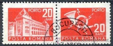 RUMANIA 1967 SCOTT J124 SELLOS º GENERAL POST OFFICE & POST HORN PORTO 20BANI ROUMANIE ROMINA ROMANI (Sellos - Extranjero - Europa - Rumanía)