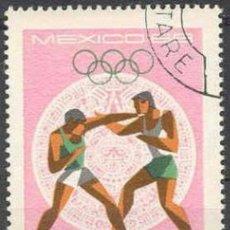 Sellos: RUMANIA 1968 SCOTT 2033 SELLOS º SPORTS JUEGOS OLIMPICOS MEXICO BOXEO 55BANI ROUMANIE ROMINA ROMANIA. Lote 31281104