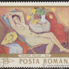 Sellos: RUMANIA 1971 SCOTT 2089 SELLO º PINTURAS DESNUDO MUJER RECLINADA DE THODOR PALLADY 20B ROUMANIE . Lote 71068982