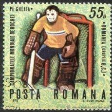 Sellos: RUMANIA 1971 SCOTT 2149 SELLO º SPORTS CAMPEONATO MONDIALE HOCKEY HIELO PORTERO 55B ROUMANIE ROMINA . Lote 31282000