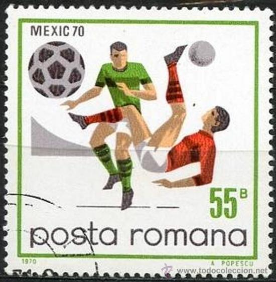 RUMANIA 1971 SCOTT 2175 SELLO º SPORTS FUTBOL MEXICO FOOTBALL CHILENA 55B ROUMANIE ROMINA ROMANIA (Sellos - Extranjero - Europa - Rumanía)