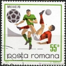 Sellos: RUMANIA 1971 SCOTT 2175 SELLO º SPORTS FUTBOL MEXICO FOOTBALL CHILENA 55B ROUMANIE ROMINA ROMANIA. Lote 31282035