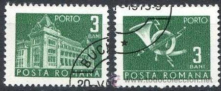 RUMANIA 1970 SCOTT J127 SELLOS º GENERAL POST OFFICE & POST HORN PORTO 3BANI ROUMANIE ROMINA ROMANIA (Sellos - Extranjero - Europa - Rumanía)