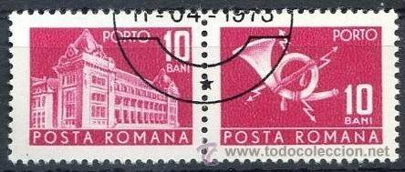 Sellos: Rumania 1970 Scott J129 Sellos º General Post Office & Post Horn Porto 10bani Roumanie Romina Romani - Foto 1 - 31282150
