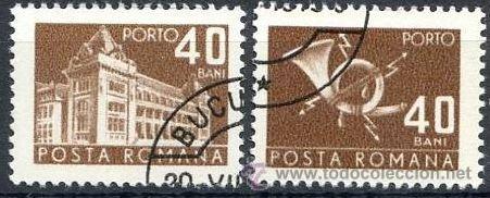 RUMANIA 1970 SCOTT J131 SELLOS º GENERAL POST OFFICE & POST HORN PORTO 40BANI ROUMANIE ROMINA ROMANI (Sellos - Extranjero - Europa - Rumanía)