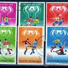 Sellos: ++ RUMANIA / ROMANIA / ROUMANIE AÑO 1978 YVERT NR.3094/99 USADA FUTBOL ARGENTINA. Lote 31295674