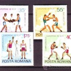 Sellos: RUMANIA / ROMANIA / ROUMANIE.***.AÑO 1969.YVERT NR. 2464/2467.DEPORTES.BOXEO.. Lote 31339557