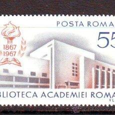 Sellos: RUMANIA / ROMANIA / ROUMANIE.***.AÑO 1967.YVERT NR.2336.CENTENARIO BIBLIOTECA ACADEMIA RUMANA.. Lote 193923015