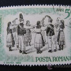 Sellos: 1966 RUMANIA, DANZAS FOLCLORICAS, YVERT 2201. Lote 32134146