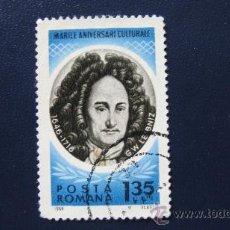 Sellos: 1966 RUMANIA, G.W. LEIBNIZ, YVERT 2225. Lote 32134251