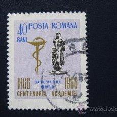 Sellos: 1966 RUMANIA, CENTENARIO DE LA ACADEMIA, YVERT 2262. Lote 32134328