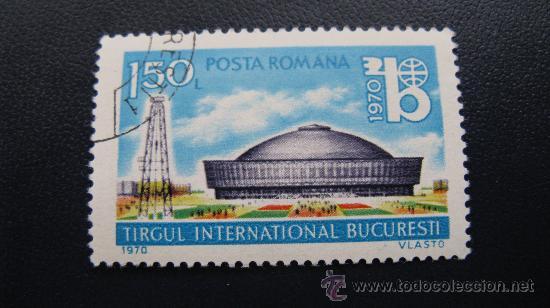 1970 RUMANIA, EXPOSICION DE BUCAREST, YVERT 2551 (Sellos - Extranjero - Europa - Rumanía)