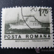 Sellos: 1972 RUMANIA, BUQUE TRANSILVANIA, YVERT 2771. Lote 32454238