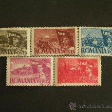 Sellos: RUMANIA 1947 IVERT 971/5 *** CONMEMORACION DEL 1º DE MAYO. Lote 32711006