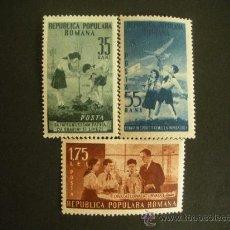 Sellos: RUMANIA 1953 IVERT 1304/6 * 4º ANIVERSARIO DE LA ORGANIZACIÓN DE JOVENES PIONEROS. Lote 32711830
