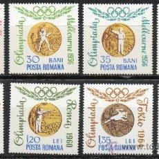 Sellos: RUMANIA AÑO 1964 YV 2068/75*** JUEGOS OLÍMPICOS DE TOKYO - MEDALLAS DE ORO. Lote 34675334