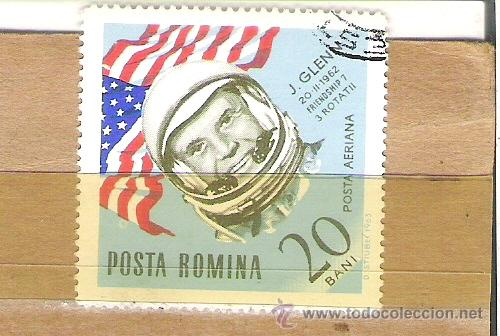 SELLOS - LOTE 1 SELLO USADO - RUMANIA ( ASTRONAUTA J. GLENN ) (Sellos - Extranjero - Europa - Rumanía)