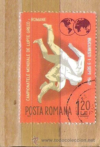 SELLOS - LOTE 1 SELLO USADO - RUMANIA ( CAMPEONATO MUNDIAL DE LUCHA GRECO ROMANA ) (Sellos - Extranjero - Europa - Rumanía)