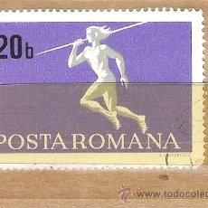Sellos: SELLOS - LOTE 1 SELLO USADO - RUMANIA ( DEPORTES - LANZAMIENTO DE JABALINA ). Lote 35354321