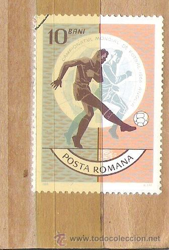 SELLOS - LOTE 1 SELLO USADO - RUMANIA ( MUNDIAL DE FUTBOL 1966 ) (Sellos - Extranjero - Europa - Rumanía)