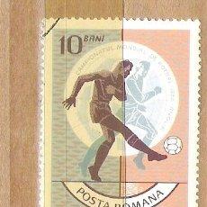 Sellos: SELLOS - LOTE 1 SELLO USADO - RUMANIA ( MUNDIAL DE FUTBOL 1966 ). Lote 35354429