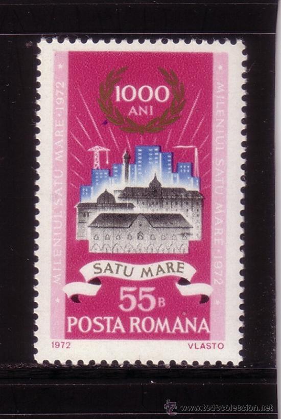 RUMANÍA 2712*** - AÑO 1972 - MILENARIO DE SATU MARE (Sellos - Extranjero - Europa - Rumanía)