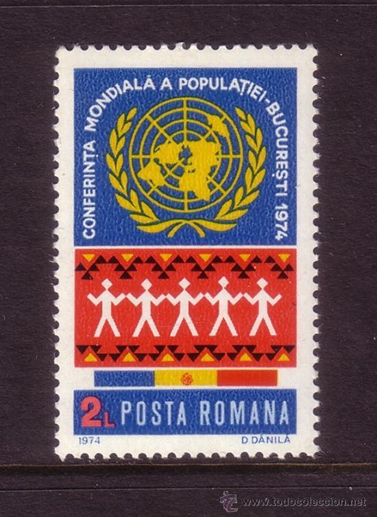 RUMANÍA 2852*** - AÑO 1974 - AÑO MUNDIAL DE LA POBLACIÓN (Sellos - Extranjero - Europa - Rumanía)