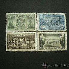 Sellos: RUMANIA 1933 IVERT 461/4 * CENTENARIO DE LA CIUDAD DE TURNU SEVERIN - MONUMENTOS. Lote 36580888
